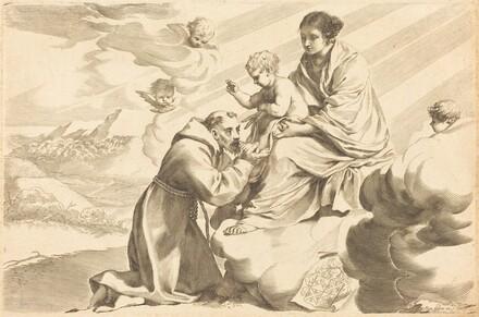 Saint Francis Adoring the Christ Child