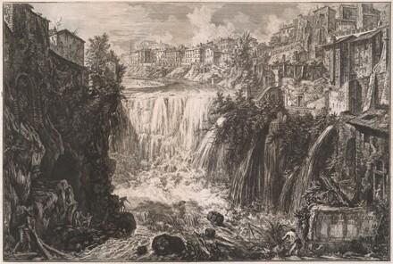 Veduta della Cascata di Tivoli