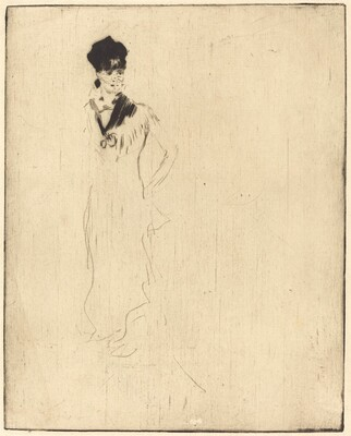Sketch of a Young Lady in Violet (Esquisse de jeune femme a la violette)