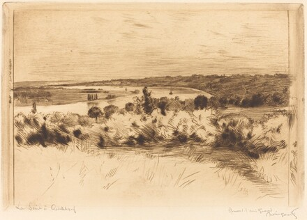 The Seine at Quilleboeuf (La Seine a Quilleboeuf)