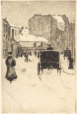 Boulevard Clichy in the Snow (Le boulevard Clichy par un temps de neige)