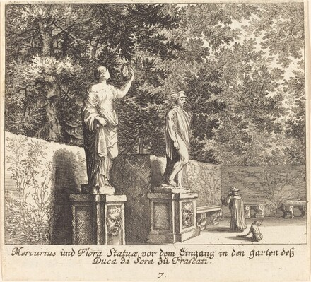 Statues of Mercury and Flora, Gardens of Dukedi Sora, Frascati