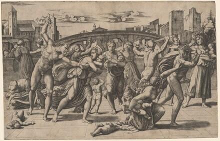 Marcantonio Raimondi, Raphael, The Massacre of the Innocents, c. 1511c. 1511