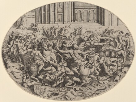 The Battle of the Amazons [recto]