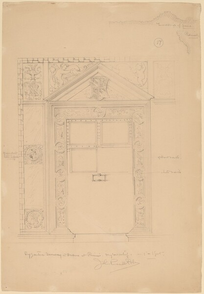 Byzantine Doorway with Duomo, Rimini