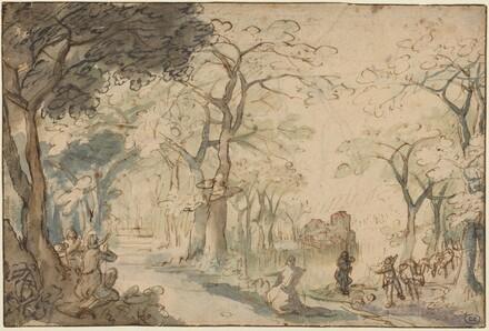 Landscape with Elisha Mocked