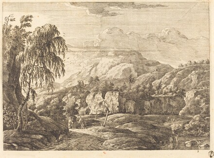 Landscape with Cross and Figures