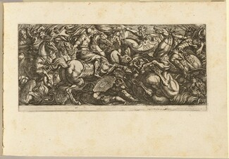Cavalry Charge with Soldiers and Horses Trampled