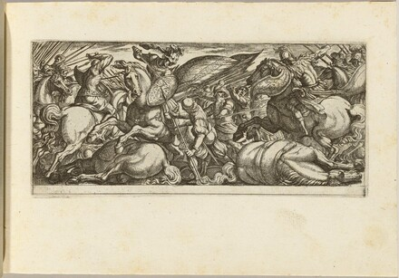 Battle between Cavalry and Infantry