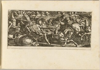 Cavalry Attack with Soldiers Fleeing