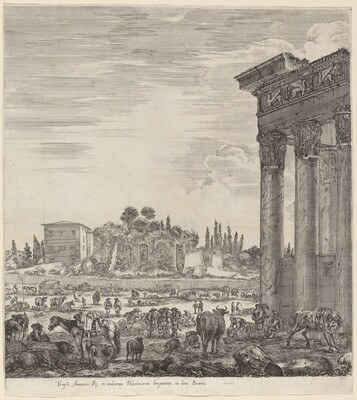 Temple of Antonius and the Campo Vaccino