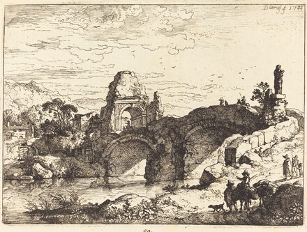 Landscape with a Bridge and Ruined Tower