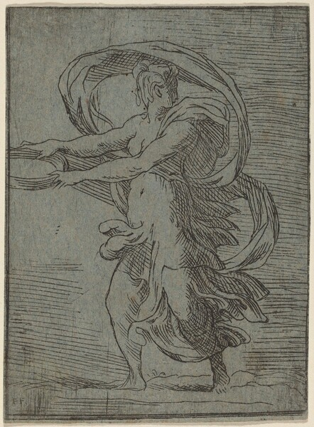 Woman Carrying a Tray