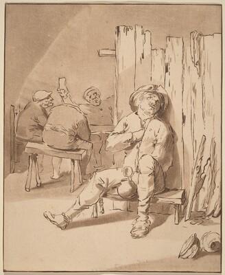 Drunken Peasant at an Inn