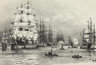 Segelschiff-Hafen