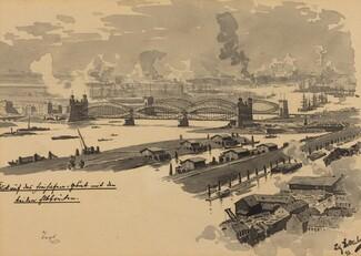 Freihafen mit den Elbbrucken