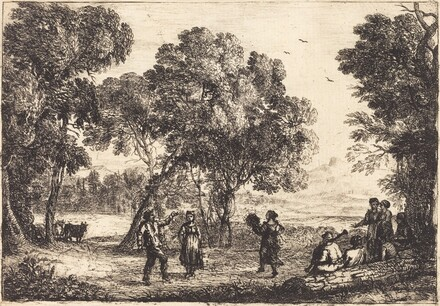 The Country Dance (Small Plate) (La danse sous les arbres)