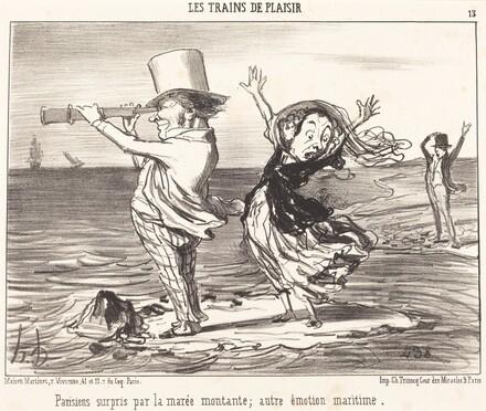 Parisiens surpris par la marée...