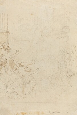 Seven Figures Witnessing an Ascension [verso]