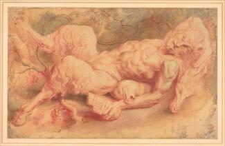 Sir Peter Paul Rubens, Pan Reclining, possibly c. 1610