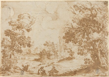 Landscape with Two Washerwomen