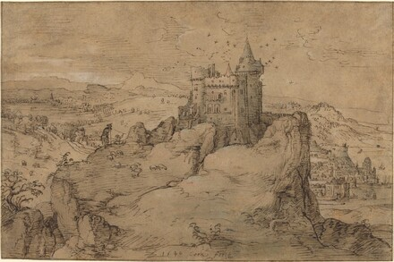 Landscape with Castle above a Harbor