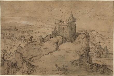 Landscape with Castle above a Harbor