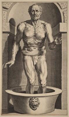 Seneca Standing in the Bath