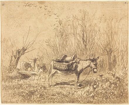 Donkey in a Field (L'Ane au pre)