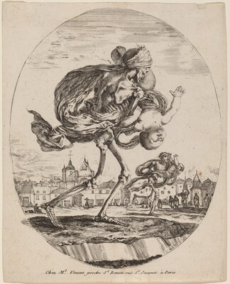 Death Carrying a Child to the Right