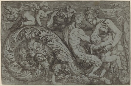Decorative Panel with Mythological Figures