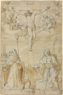 The Crucifixion with Saints Roch and Augustine