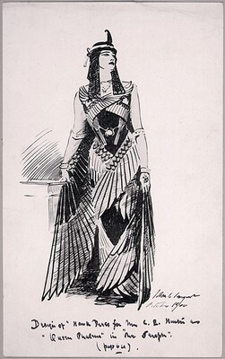 Design for Hawk Dress for Mrs. C.E. Hunter as Queen Phalema in The Seraph