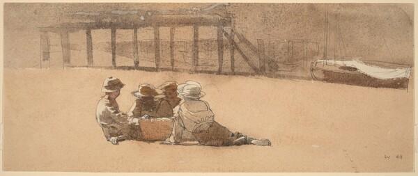 Four Boys on a Beach