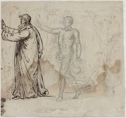 Three Figures [verso]