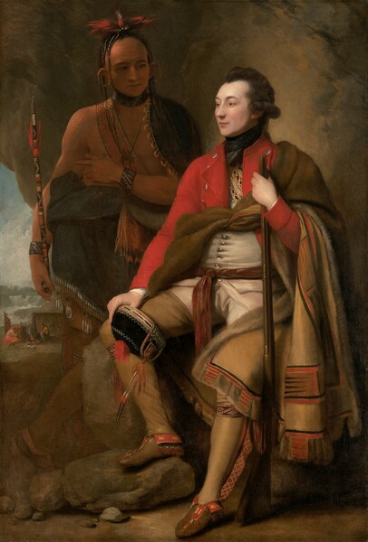 Colonel Guy Johnson and Karonghyontye (Captain David Hill)