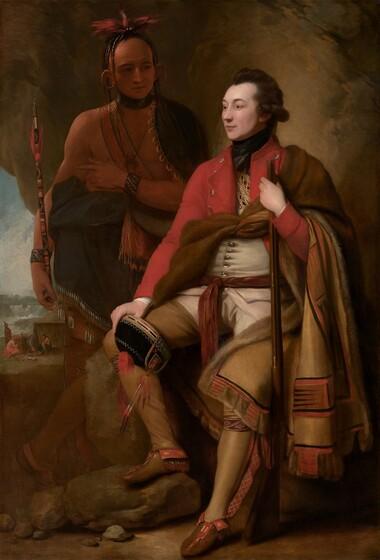 Benjamin West, Colonel Guy Johnson and Karonghyontye (Captain David Hill), 1776