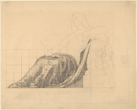 Drapery Study for Reclining Female Study for Painting