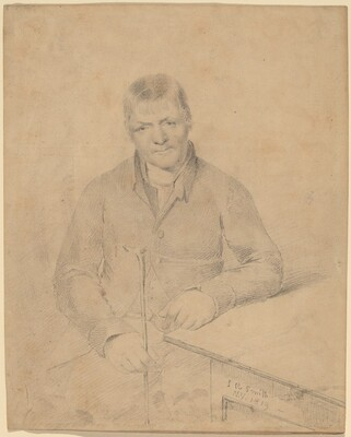Man Seated at a Table