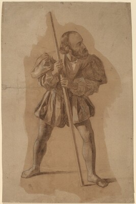 Figure Costume Study for Columbus Mural, Washington, D.C.
