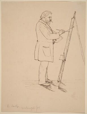 Sketching - Emanuel Leutze