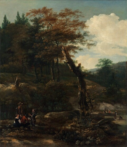 Wooded Landscape with Travelers
