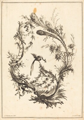 Ornament with a Peacock