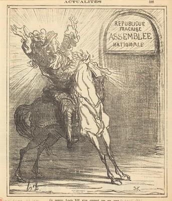 Ce pauvre Louis XIV n'en croyant pas ses yeux