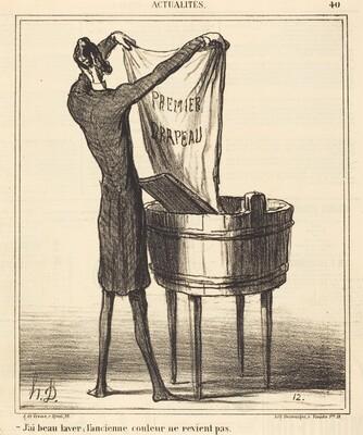 J'ai beau laver, l'ancienne couleur...