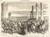 Les troupes Austro-Prussiennes entrant a Hambourg ... [top half]