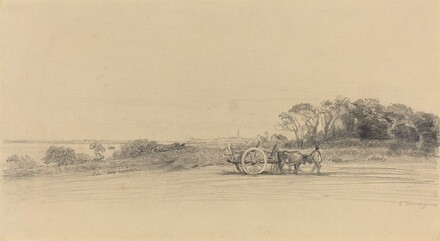 L'Ile aux Moines with Figure and Cart