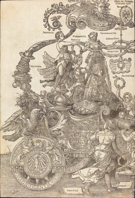 The Triumphal Chariot of Maximilian I (The Great Triumphal Car) [plate 1 of 8]