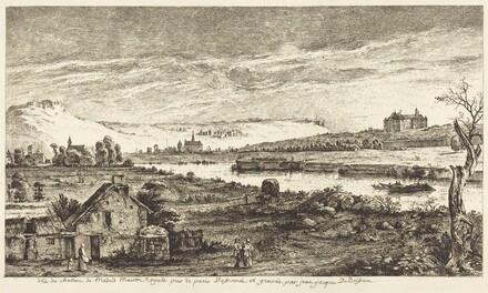 Vue du chateau de Madrid