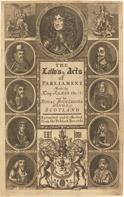 Frontispiece to The Laws and Acts of Parliament Made by King James I ...